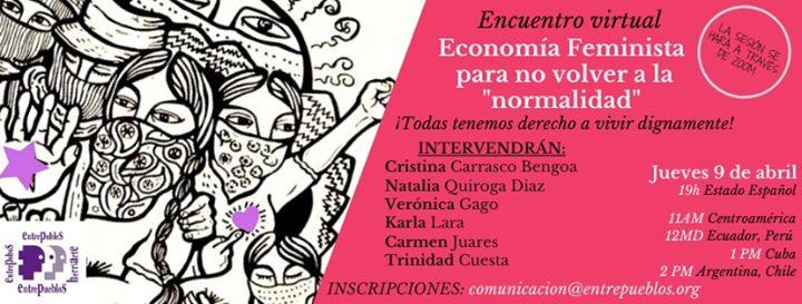 """Economía Feminista, para no volver a la """"normalidad"""""""