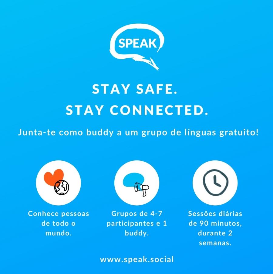 SPEAK Aprende uma língua e conhece pessoas online