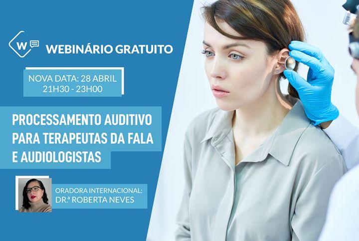 Webinário Gratuito: Processamento Auditivo