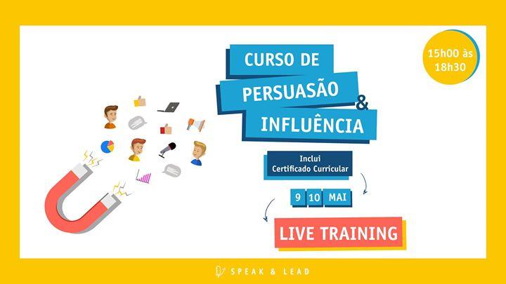 Curso Persuasão e Influência – Live Training – 9 e 10 Maio