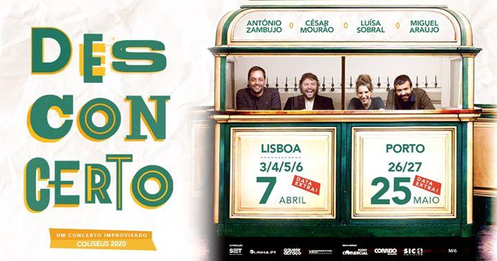 Desconcerto - Lisboa (DATA EXTRA)