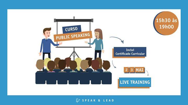 Curso Public Speaking - Online - 2 e 3 de Maio