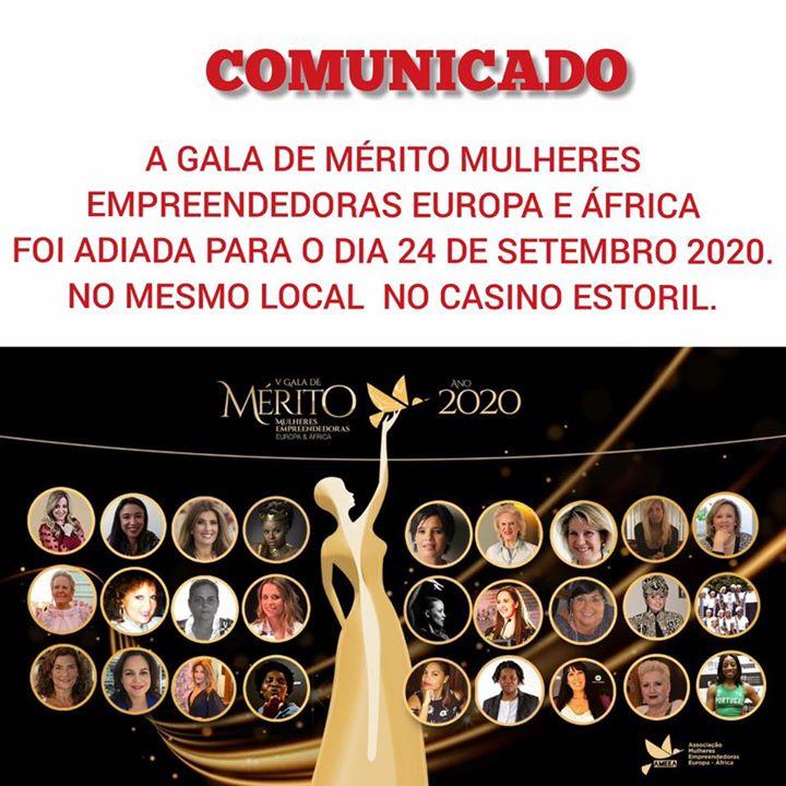 V Gala de Mérito (Oscar) Mulheres Empreendedoras Europa é África