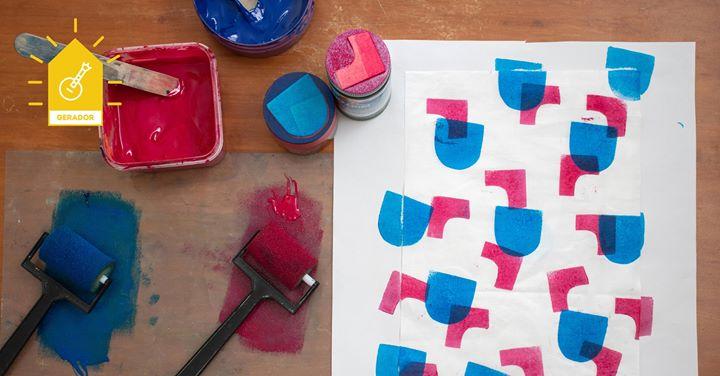Workshops em casa | Estampagem de tecido com Atelier Karaka