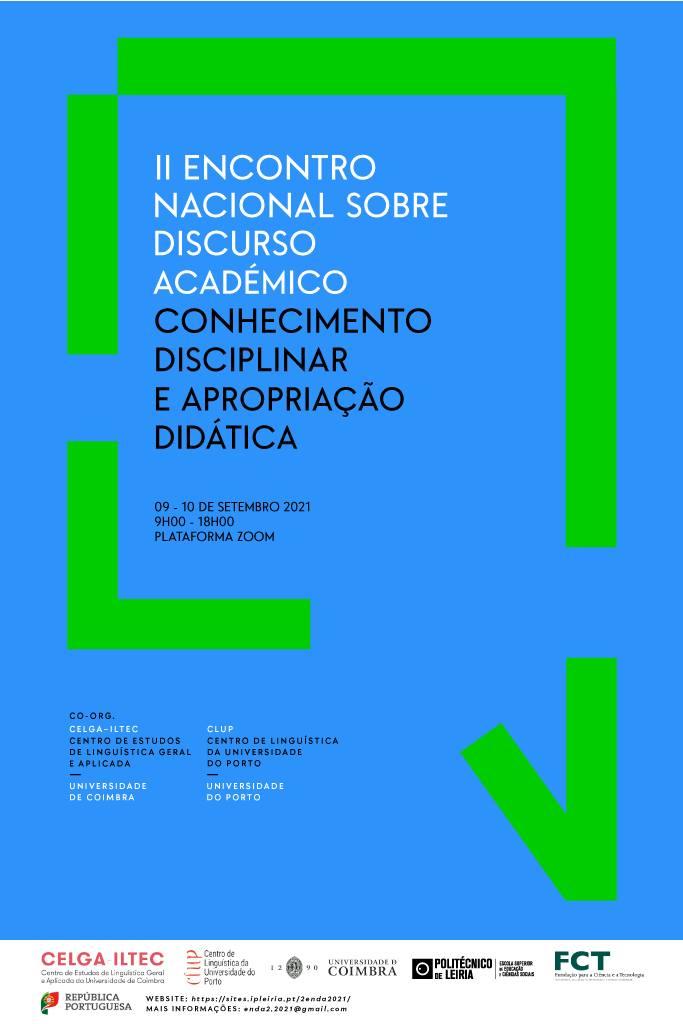 (CFP até 15/06) 2º Encontro Nacional sobre Discurso Académico