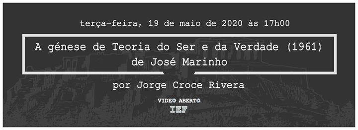 Videoconferência 'Teoria do Ser e da Verdade de José Marinho'