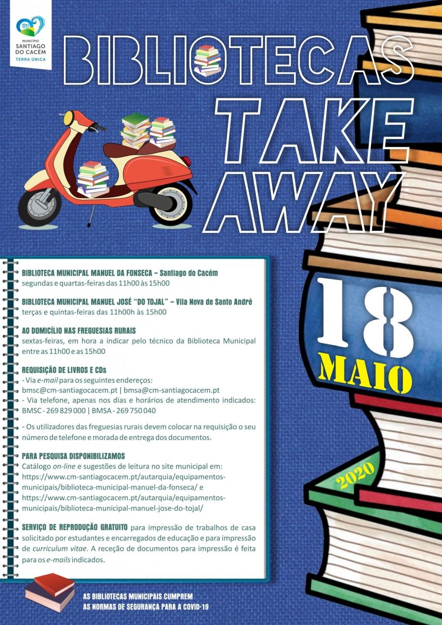 Bibliotecas Municipais take-away