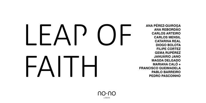 Abertura NO·NO | Leap of Faith