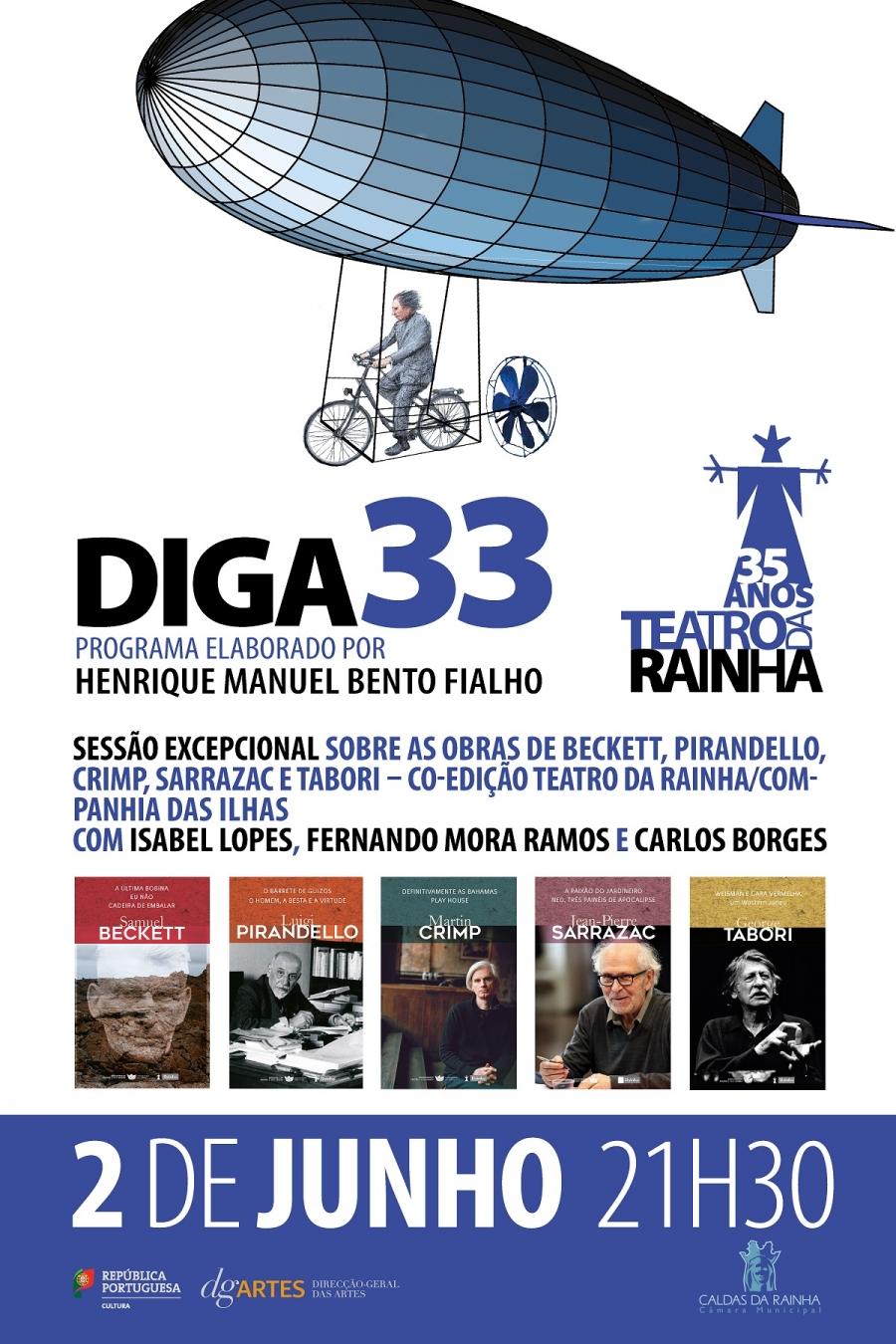 DIGA 33 com Isabel Lopes, Fernando Mora Ramos e Carlos Borges