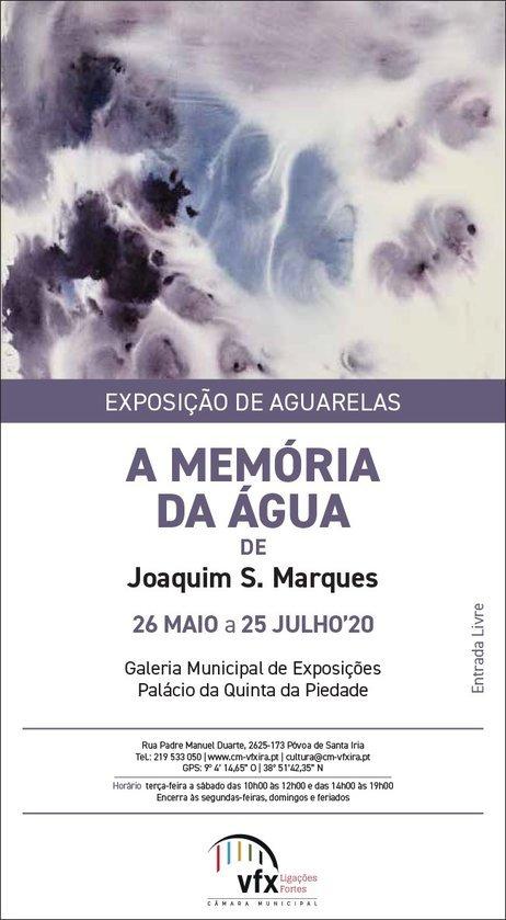 Exposição de aguarelas 'A Memória da Água', de Joaquim S. Marques