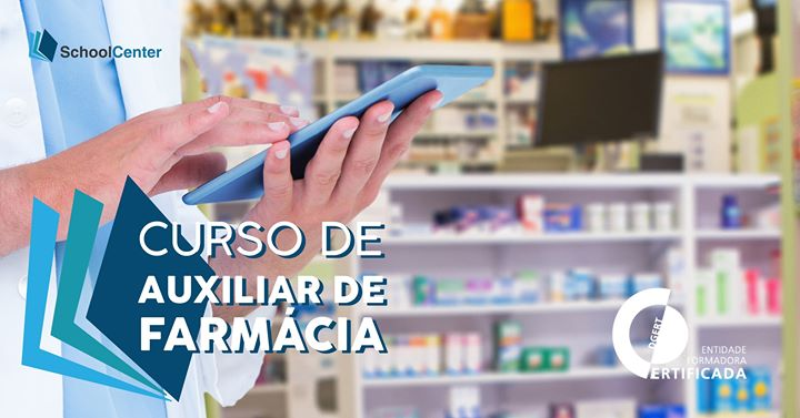 Curso de Auxiliar de Farmácia e Parafarmácia 150+200h estágio