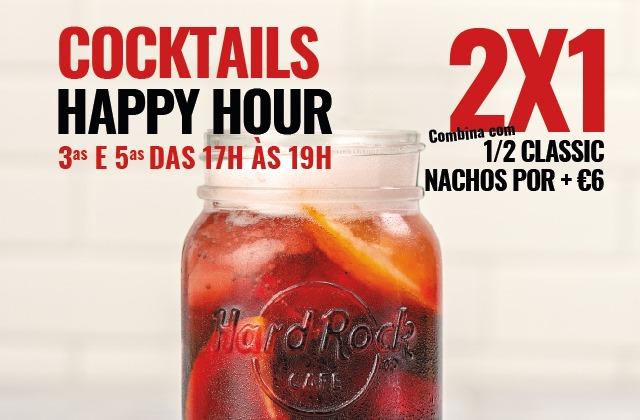 Hard Rock Cafe Porto HAPPY HOUR Cocktails