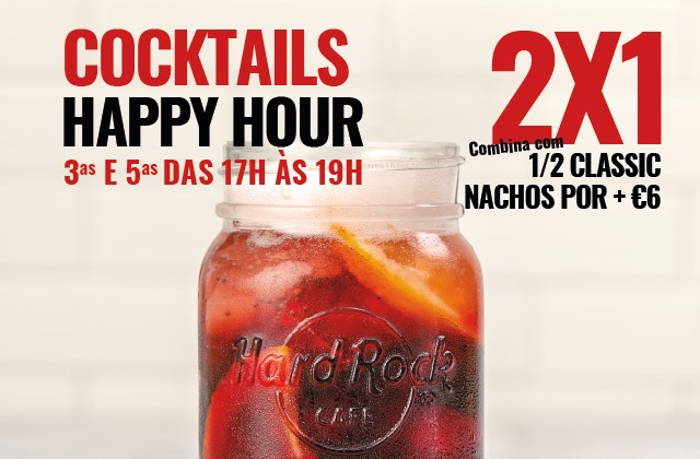 Hard Rock Cafe Porto HAPPY HOUR Cocktails