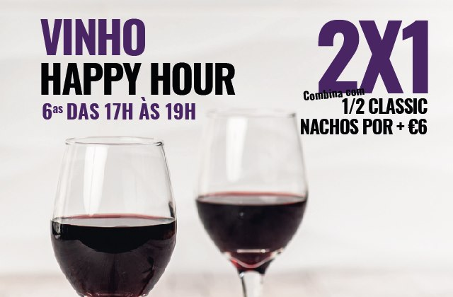 Hard Rock Cafe Porto HAPPY HOUR Vinho