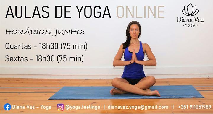 Aulas de Yoga Online - mês de junho