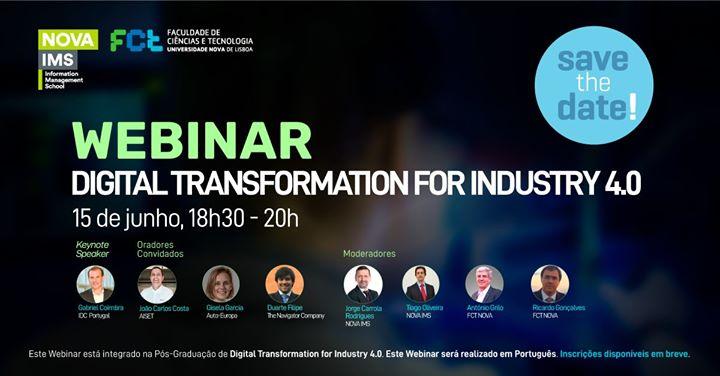 Webinar Digital Transformation for the industry 4.0