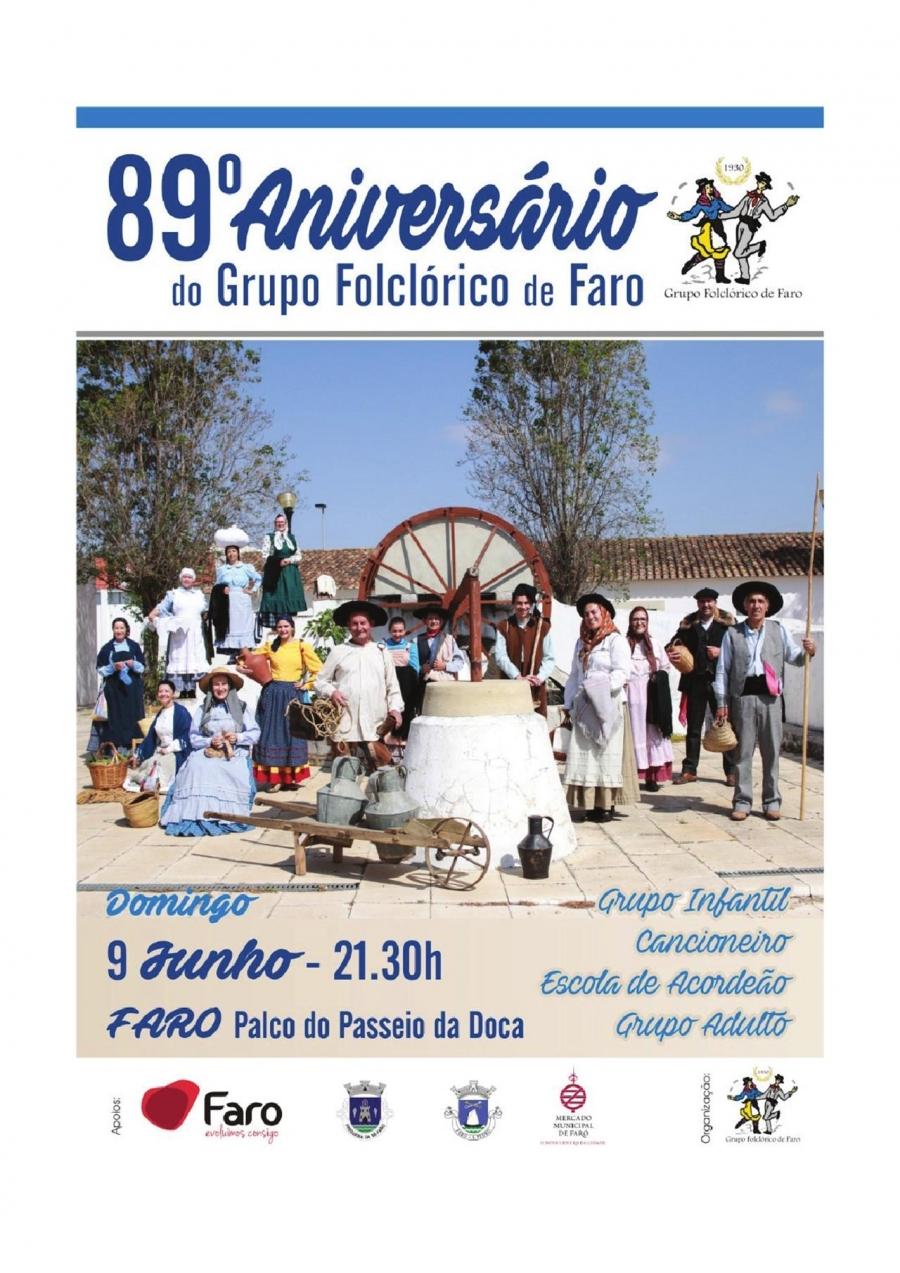 89.º aniversário do Grupo Folclórico de Faro