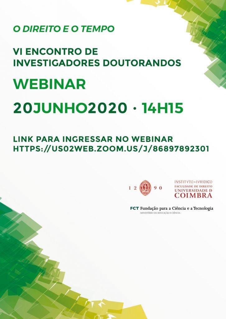 VI ENCONTRO DE INVESTIGADORES DOUTORANDOS · WEBINAR