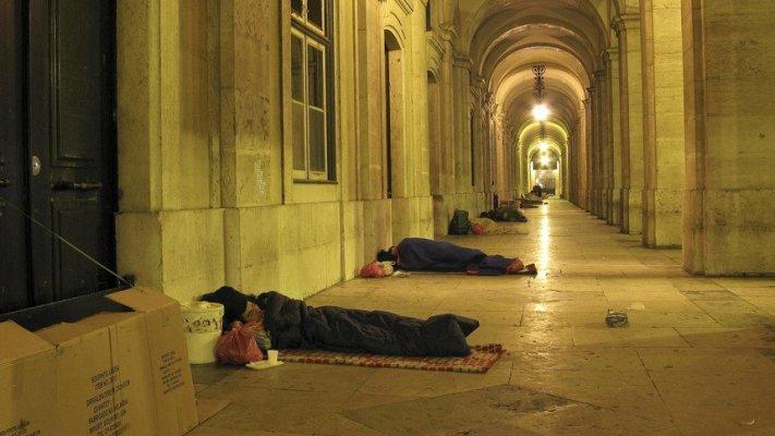 Concentração pela dignidade dos sem abrigo