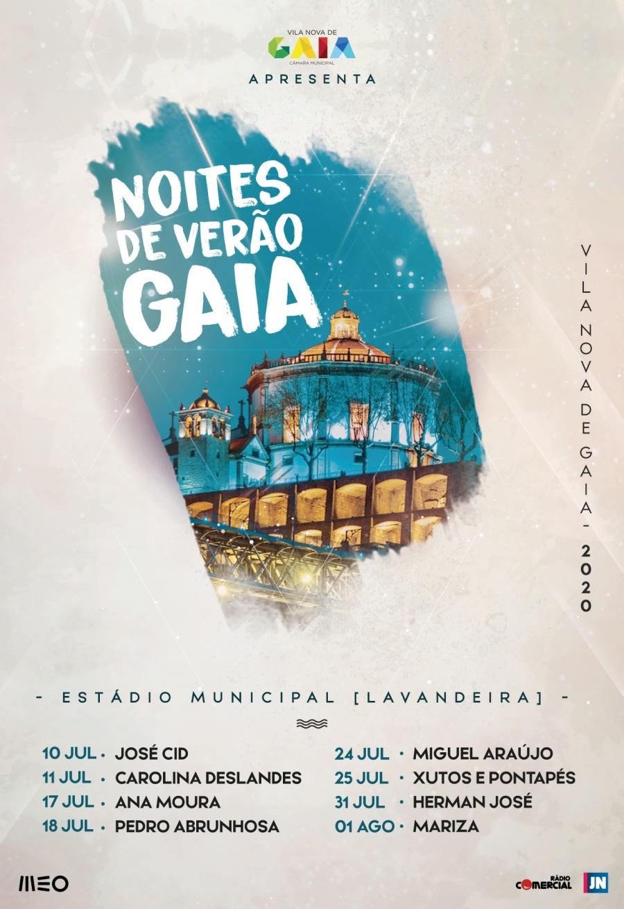 «Noites de Verão» em Gaia com oito concertos