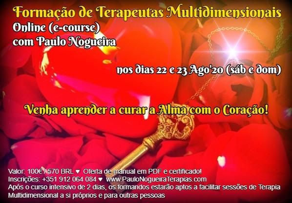 Curso Online de Terapia Multidimensional a 22 e 23 Ago'20