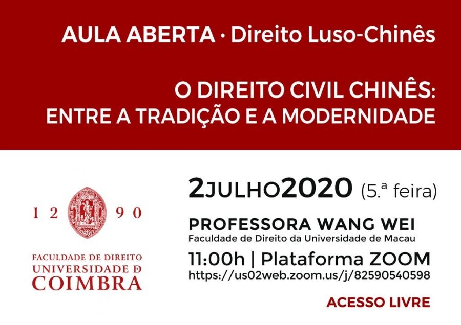 AULA ABERTA · Direito Luso-Chinês