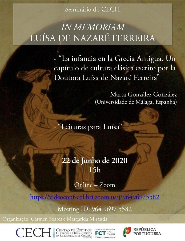 In Memoriam. Luísa de Nazaré Ferreira