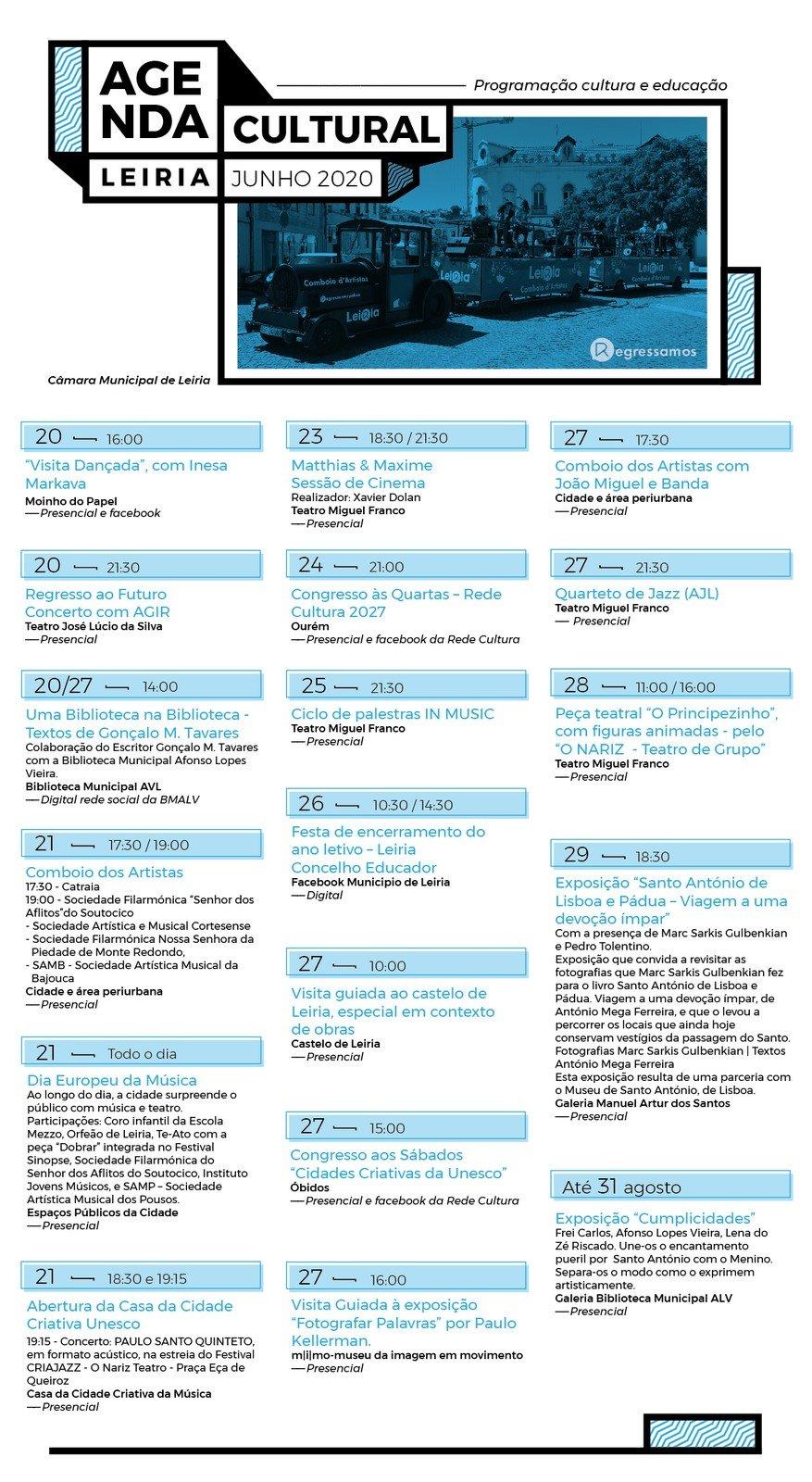 Agenda cultural de Leiria - junho