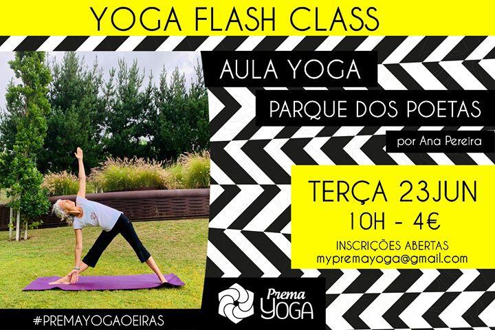 Yoga Flash Class no Parque dos Poetas
