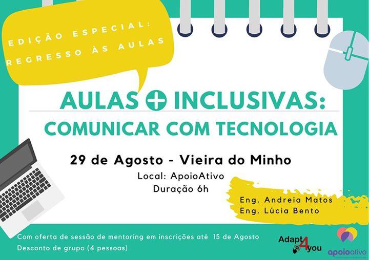 Aulas + inclusivas: comunicar com tecnologia