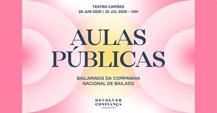 Aulas públicas dos bailarinos da CNB ∎ 26 jun e 10 jul 2020