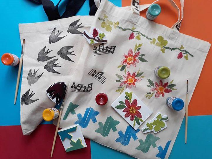 O teu saco é uma estampa // Oficina criativa