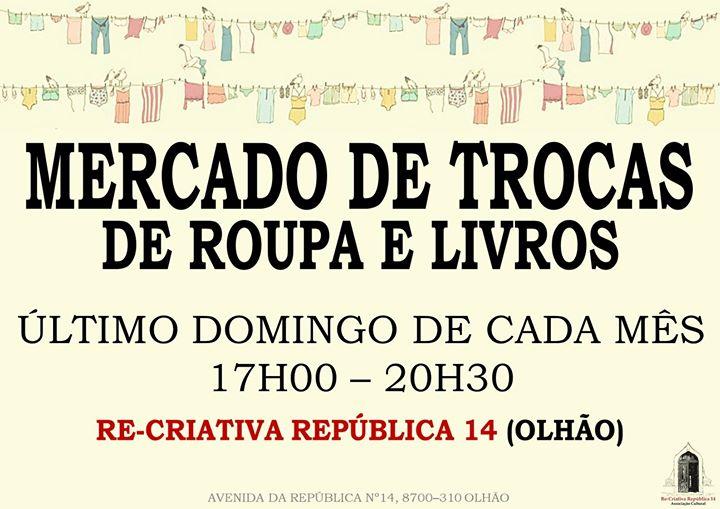 Mercado de Trocas - Domingo dia 28 de Junho.