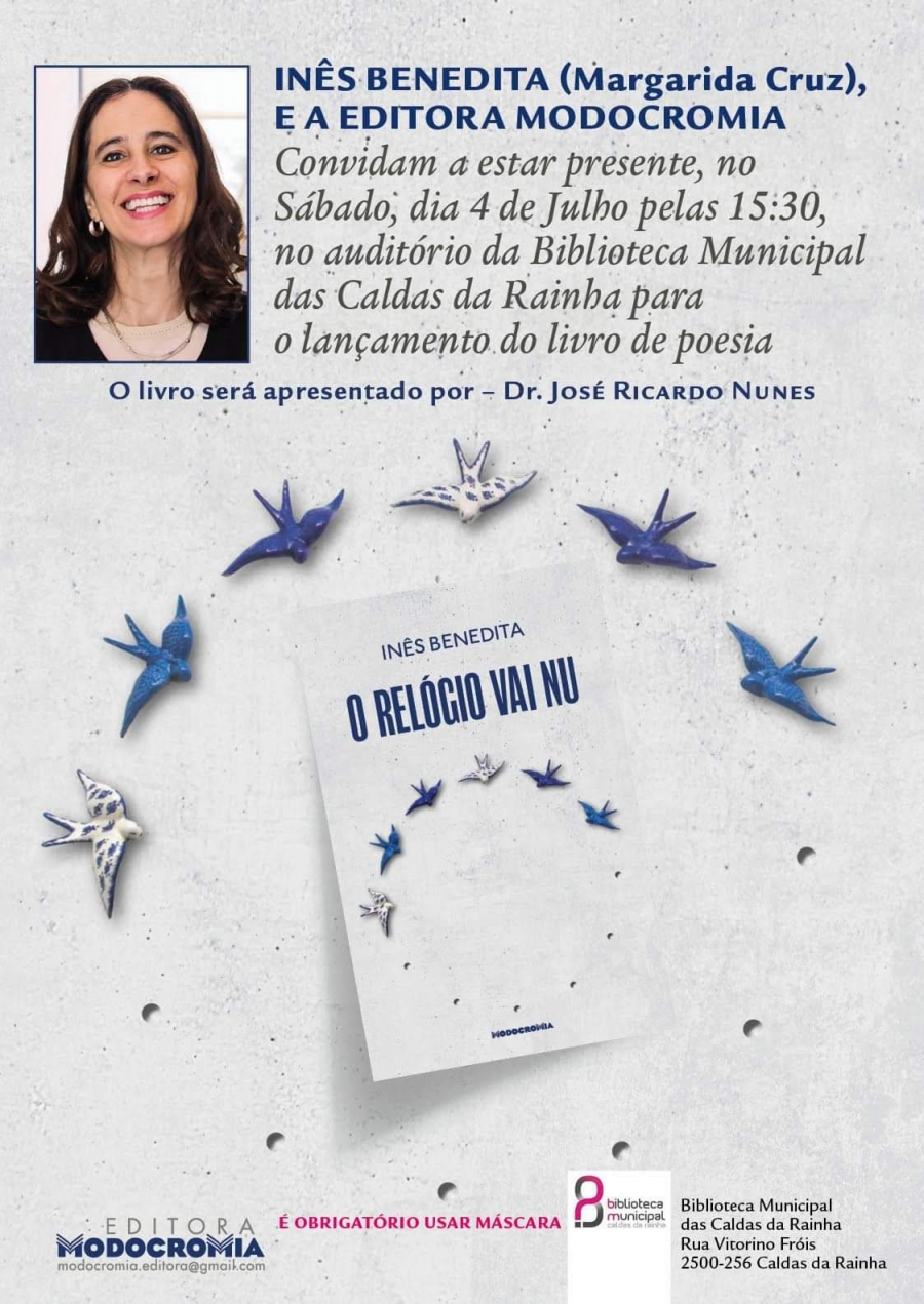 Lançamento do livro de poesia O Relógio vai Nu
