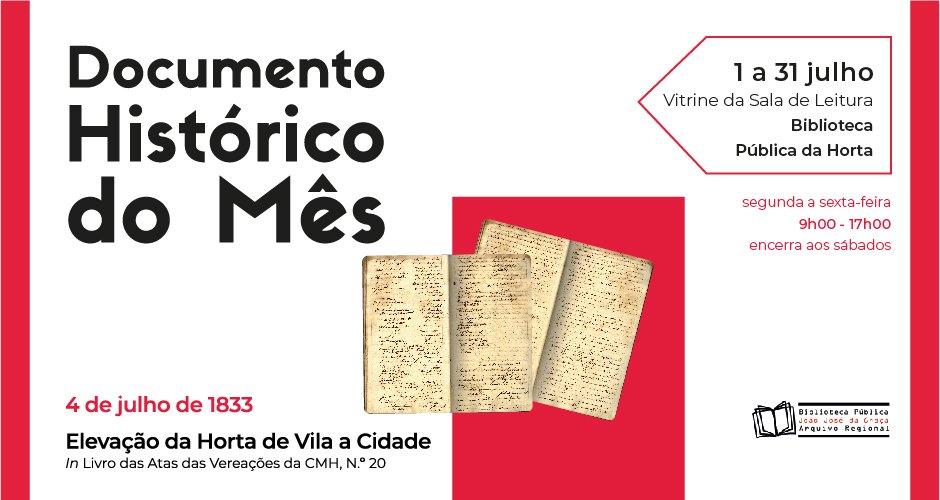 Documento Histórico do Mês
