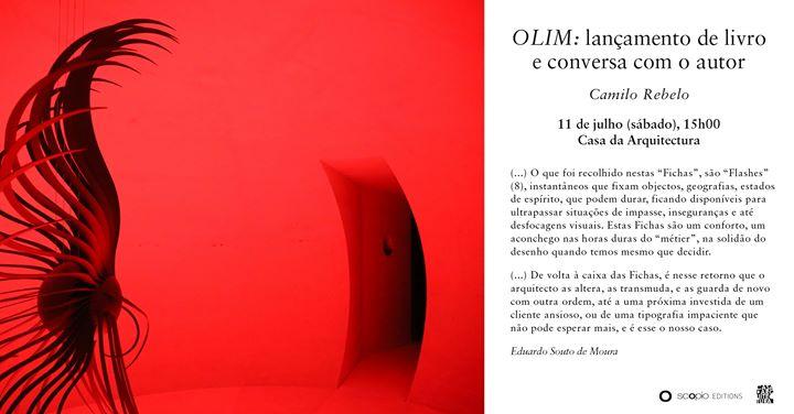 Lançamento de 'Olim' de Camilo Rebelo e conversa com o autor