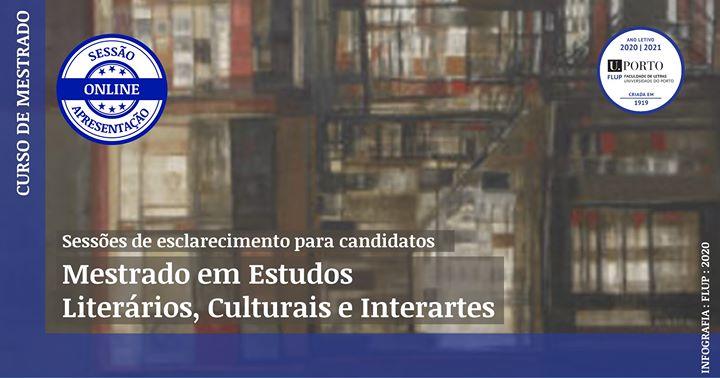 Mestrado em Estudos Literários, Culturais e Interartes