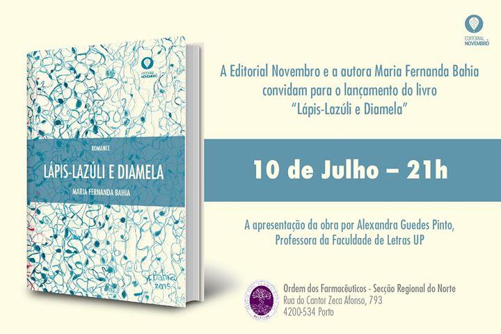 Lançamento do livro 'Lápis-Lazúli e Diamela'