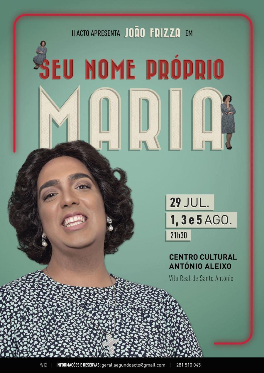 Seu nome próprio Maria!