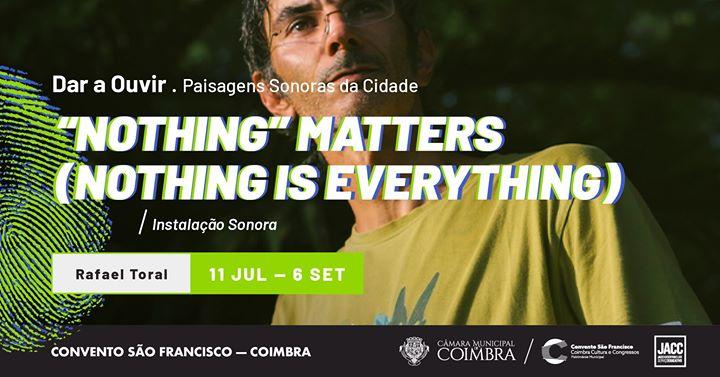Nothing' matters (nothing is everything), de Rafael Toral