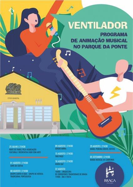 Programa de Animação Musical no Parque da Ponte