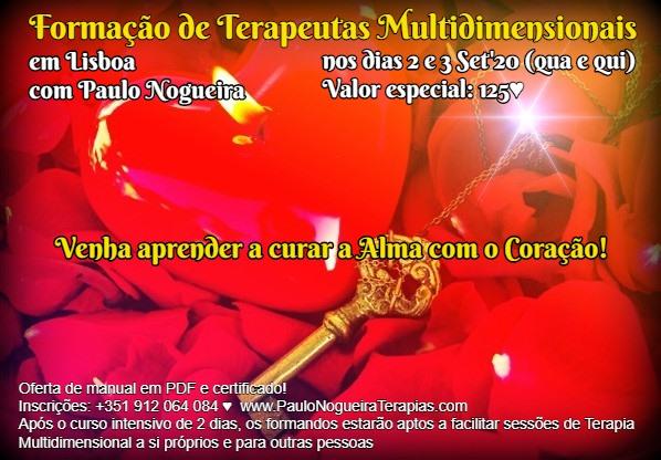 Curso de Terapia Multidimensional em Lisboa em Set'20 à semana