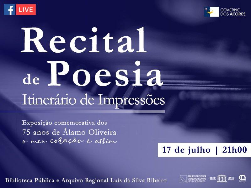"""Recital de Poesia """"Itinerário de Impressões"""" - Exposição """"O Meu Coração é Assim"""" -"""