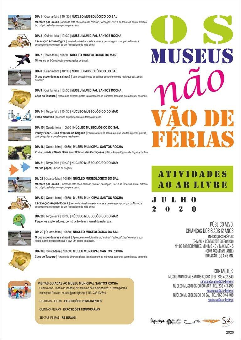 Os Museus não vão de férias!