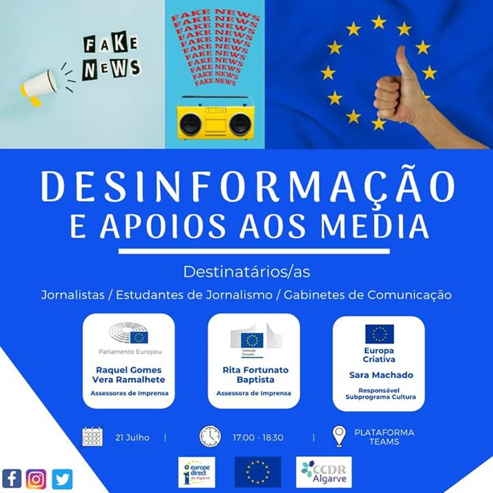 Webinar: Combater a desinformação & Apoios aos Media