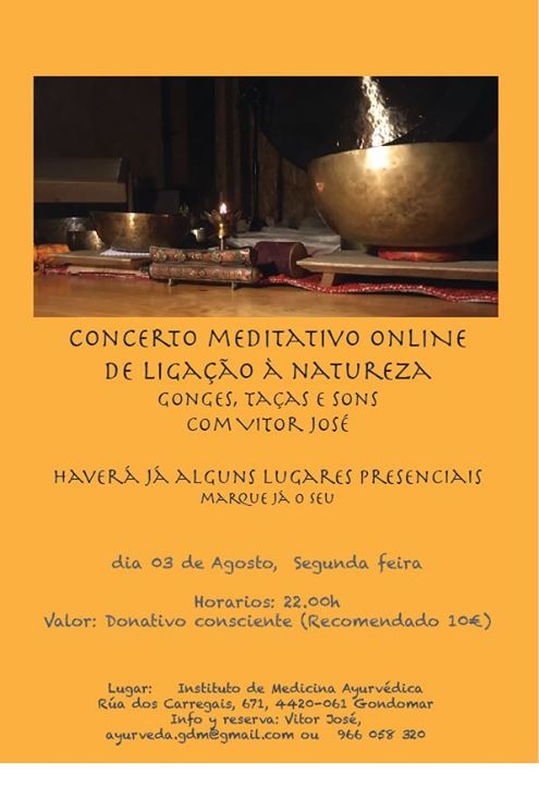 Concerto Meditativo Gonges, Taças , voz e som