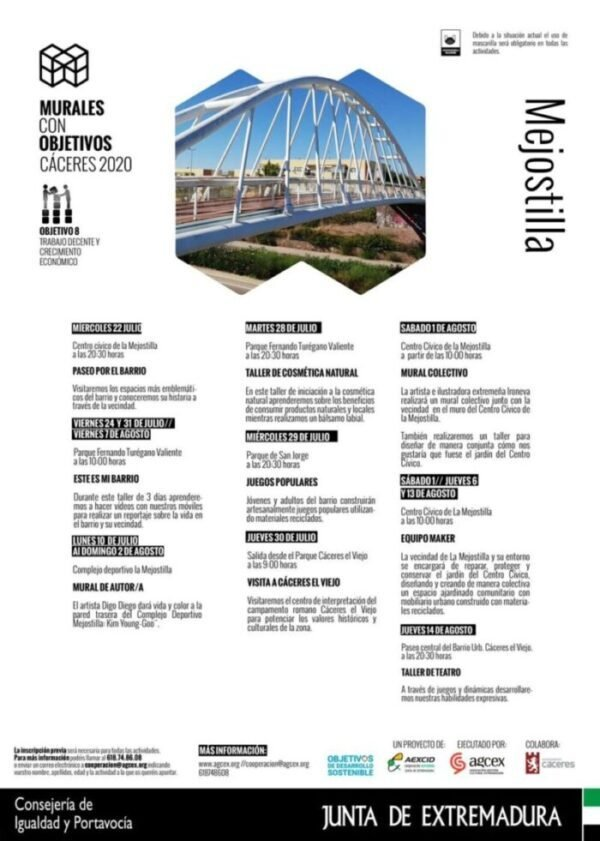 Murales con Objetivos. Cáceres 2020 – Taller de cosmética natural