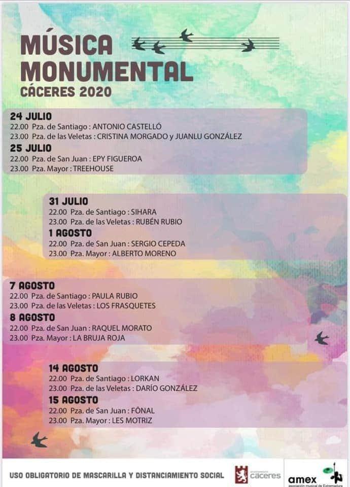 Música Monumental en Cáceres – Sergio Cepeda