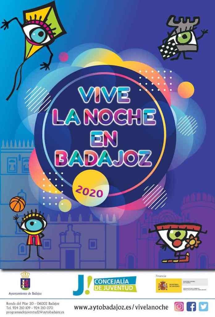 Vive la Noche en Badajoz 2020 – PROGRAMA DE ACTIVIDADES