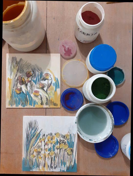 Oficina de Pintura em Azulejo   ao AR LIVRE